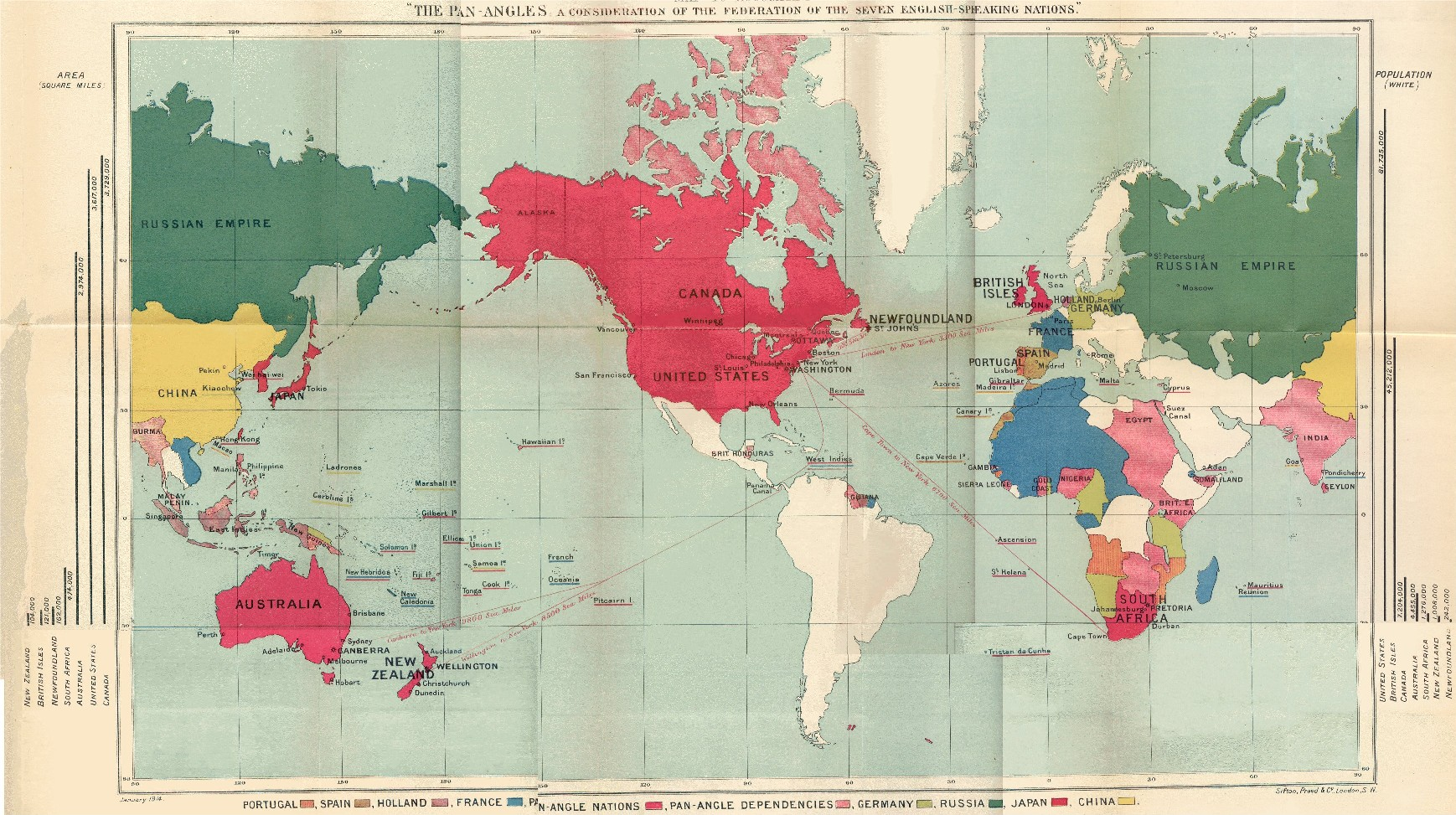 Us Territorial Influence Map Labeled - Us territorial influence 1914 map labeled
